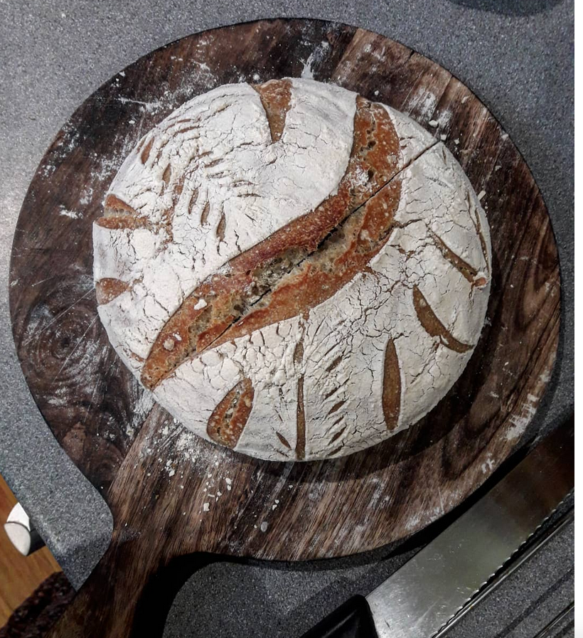 Carl Kruse Blog - Sourdough bread image vy the author